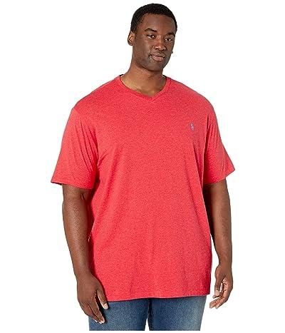 Polo Ralph Lauren Big & Tall Short Sleeve V-Neck T-Shirt (Rosette Heather) Men