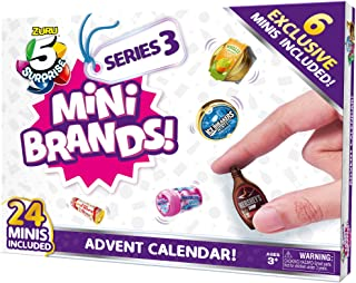 5 Surprise Mini Brands Series 3 Limited Edition 24-Surprise Pack Advent Calendar with 6 Exclusive Minis by ZURU
