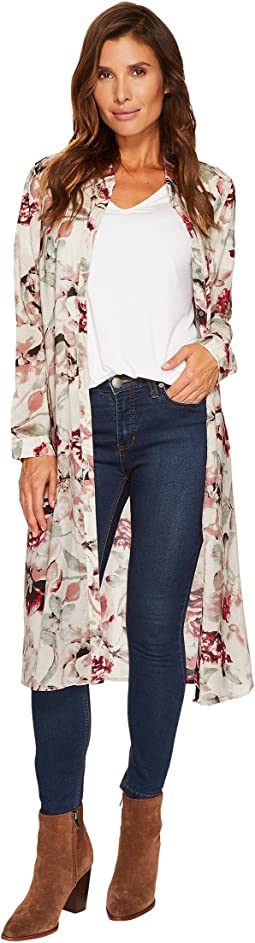 Tribal - Printed Floral Duster Shirt