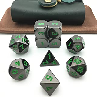 Momostar RPG Solid Metal Polyhedral Dice for Dungeons and Dragons, Pathfinder and Other Games.