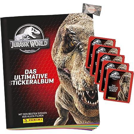 Hybridserie Jurassic World The Ultimate Collection Sammelsticker und Karten 10 Booster Packungen 40 Sticker Center Shock 10 Karten