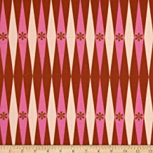 Cotton & Steel Melody Miller Playful Backgammonish Pink Rust Fabric SOLD BY THE YARD