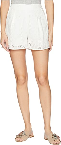 Pull-On Pleated Shorts