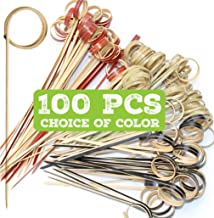 Plasticpro Cocktail Bamboo Picks Toothpicks for Cocktails Fruits Appetizers Dessert 3.5 inches Pack of 100