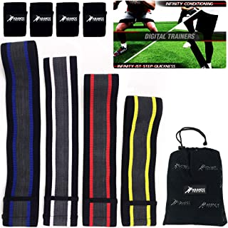 Kbands Training Infinity Loop Hip Bands (1st Step Quickness & Conditioning) Anti-Slip Thick Rubber Interior Design