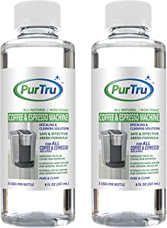 Coffee and Espresso Machine Descaling and Cleaning Solution (2 Pack) - All Natural Descaler and Cleaner For Keurig, Bunn, Delonghi, Nespresso and All Drip Coffee, Espresso and Single Cup Machines