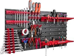 Opslagsysteem, wandrek, 78 x 39 cm, gereedschapshouders, schudplank, extra sterke wandplaten, uitbreidbaar, werkplaatsrek,...