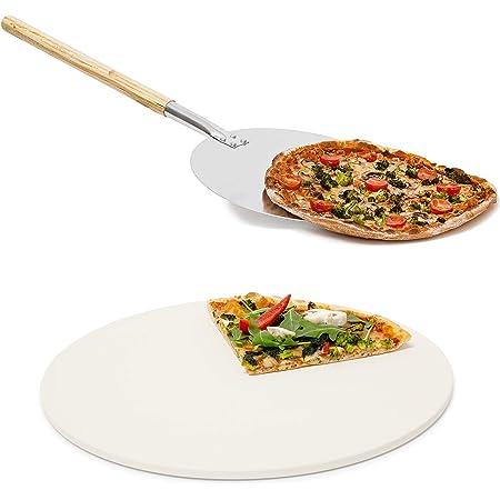 Pizzastein Cordierit Schaufel Profi Set Backstein Pizzaschaufel Rechteckig