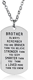 Always Remember You Are Braver Than You Believe Inspirational Necklace For Family Member