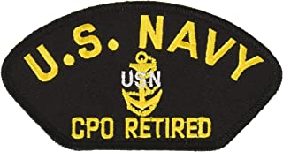 EagleEmblems PM1625 Patch-Usn,Cpo,Retired