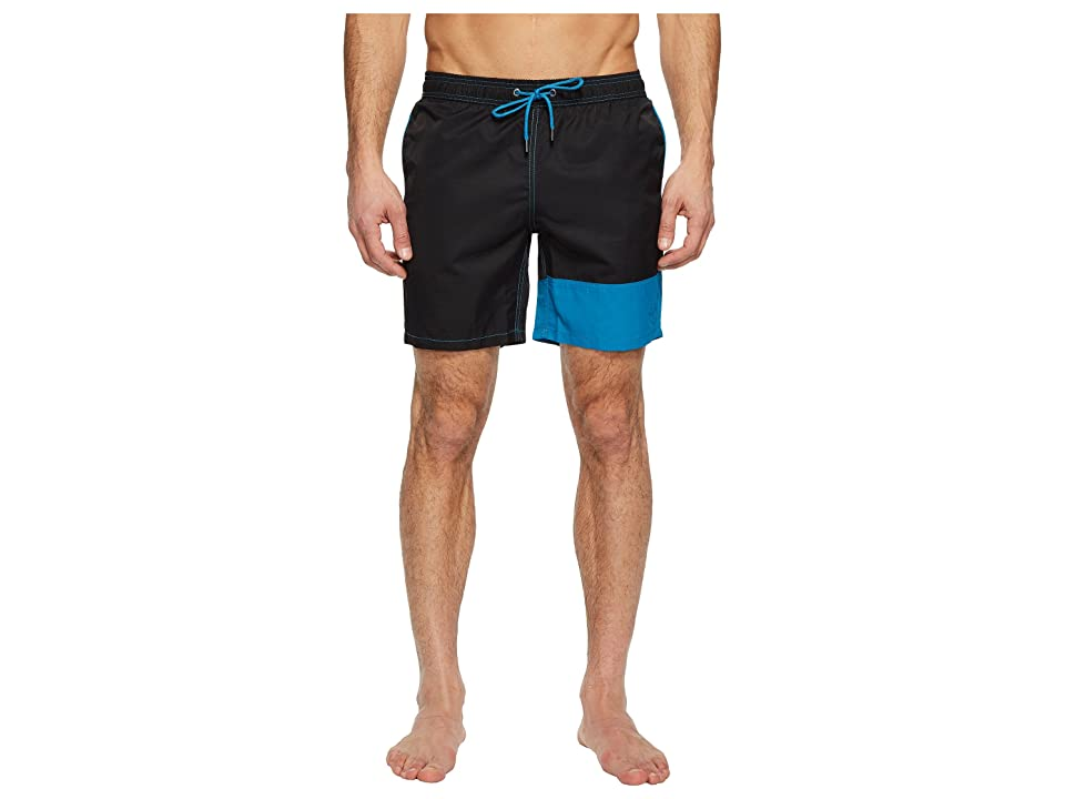 Mr. Swim Color Block Dale Swim Trunks (Black) Men