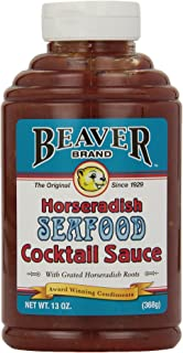 Beaver Seafood Cocktail Sauce with Fresh Grated Horseradish, 13 Ounce Squeeze Bottle