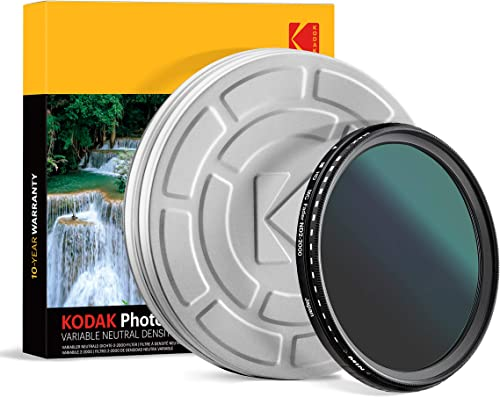 lowest KODAK 49mm Fader Variable sale ND Filter   Variable Range ND2-2000 Neutral Density Filter, Prevent Overexposure w/Shallow Depth of Field, Capture Motion Blur, high quality Slim, Nano 18-Layer Multi-Coated Glass online sale