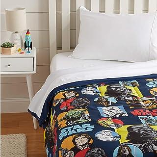 Amazon Basics Star Wars Galactic Grid Comforter, Twin