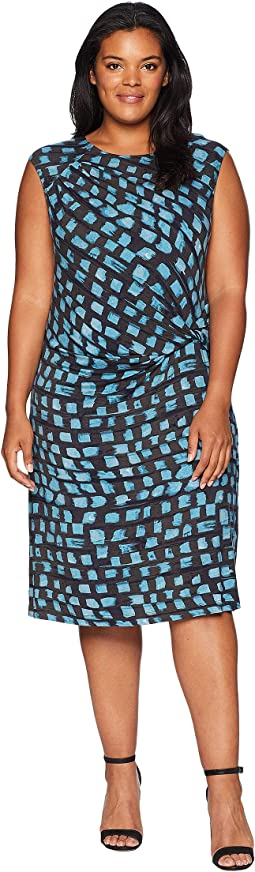 Plus Size Vivid Twist Dress