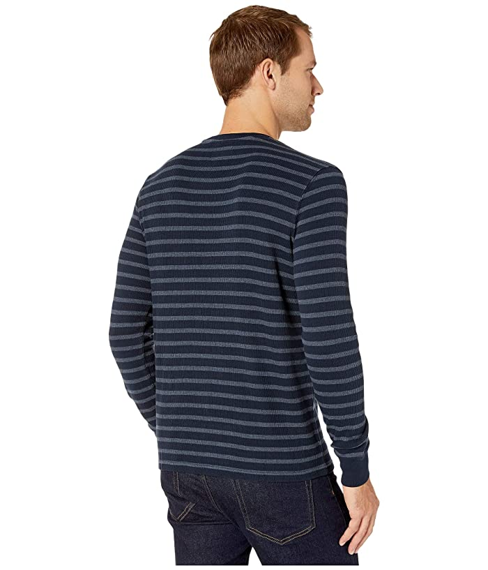 Lucky Brand Stripe Thermal Crew Top - Ropa Camisas Y Tops
