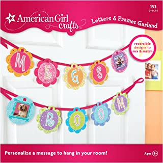 American Girl Crafts Bedroom Personalized Banner Decoration for Girls, 153pc