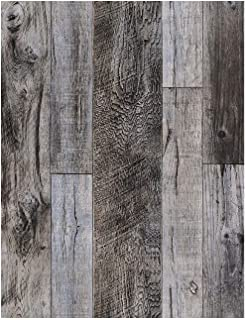 HaokHome 92048-1 Peel and Stick Wood Plank Wallpaper Shiplap 17.7