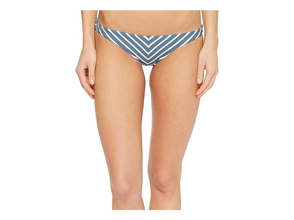 Vitamin A Swimwear Tulum Bottom (Marin Stripe Grey) Women