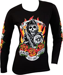 Sons of Anarchy Fire Roses Juniors Long Sleeve T-Shirt