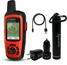 Garmin InReach Explorer+ Handheld Satellite Communicator with GPS Navigation, Maps, and Sensors 010-01735-10 and Wearable4U Ultimate Power Pack Bundle