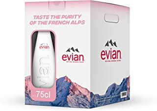 Evian Natural Mineral Water, 750 ml (Pack of 4)