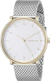 Skagen Men's Hald Stainless Steel Mesh Watch, Color: Silver, 20 (Model: SKW6170)