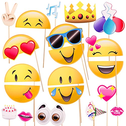 Windy City Novelties Emoji Icon Smiley Face Photo Booth Prop Party Kit