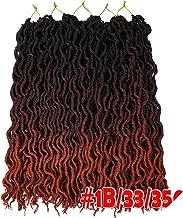 Goddess Faux Locs Crochet Hair 20Inch Soft Natural Synthetic Crochet Braids Hair Extensions Pre Looped Locs Bulk,#350,20Inches,3 Packs