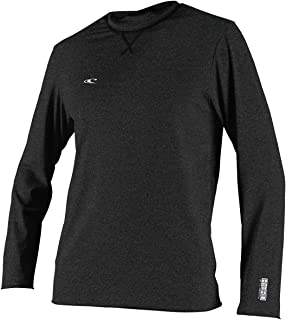 O'Neill Men's Hybrid UPF 50+ Long Sleeve Sun Shirt, Black, Small