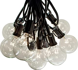100 Foot Outdoor String Lights - 105 G50 Clear 2