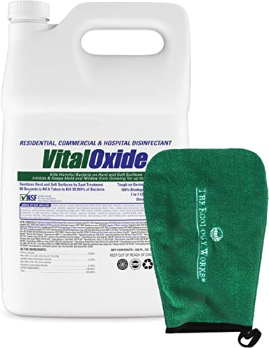 Vital Oxide Disinfectant, Deodorizer, Cleaner, Food-Contact Sanitizer – Kills Mold & Mildew, Eliminates Odors – Indus...