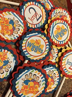 Inspired Wiggles Cupcake Toppers (12)