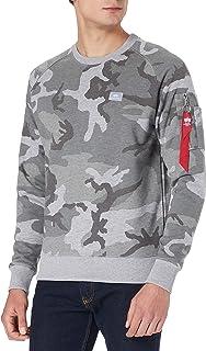 ALPHA INDUSTRIES Men's X-fit Sweat Camo Sweatshirt