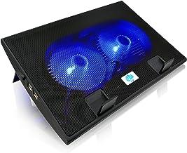 AABCOOLING NC35 – Notebook Ständer mit 2 Lüftern, Einstellbare Neigung und Blau..
