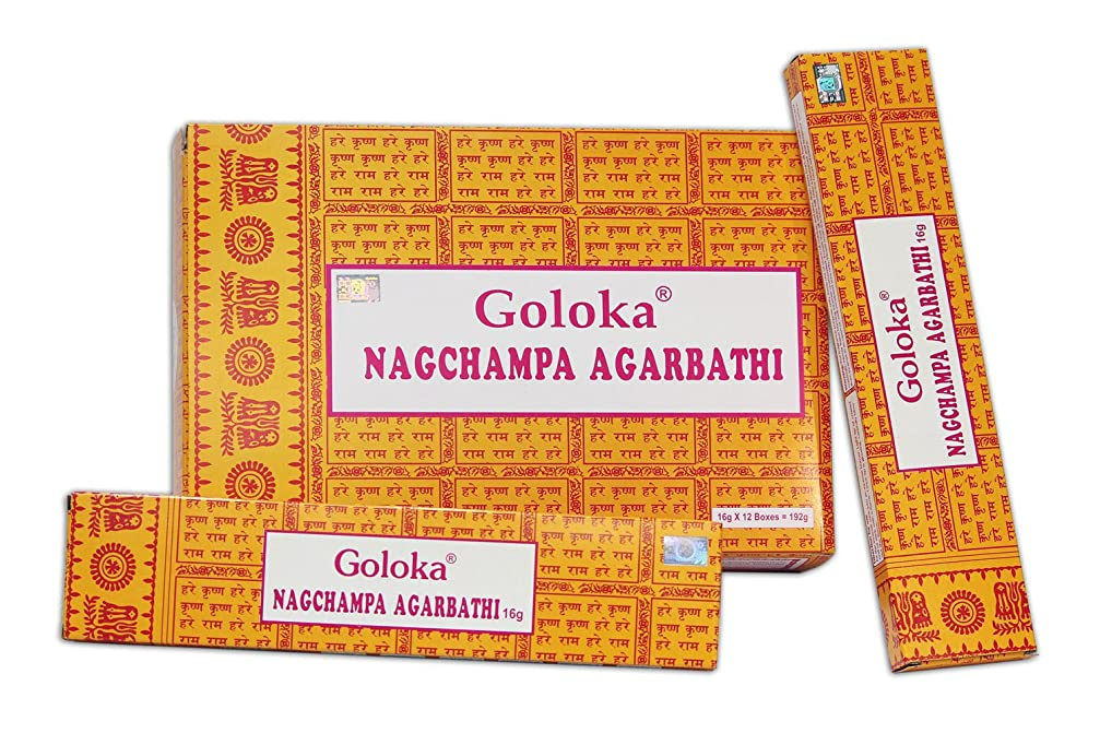 アサート債務者メモGoloka Nag Champa Incense Sticks ( 16?gms )?–?12ボックス