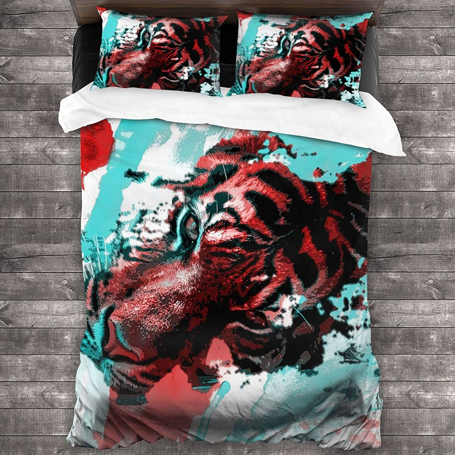 Pssmmal Watercolor Painting Limited time for free shipping Tiger 3 Outlet sale feature Bedding Set Comforter Pieces