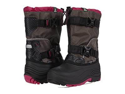 Kamik Kids Glacial 3 (Little Kid/Big Kid) (Charcoal/Pink) Girl