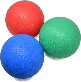 Number 1 in Gadgets 5 Inch Playground Balls, Set of 3 Mini Sports Balls for Soft Play, Rubber Dodge Balls for Indoor and Outdoor Use, Inflated Bouncy Easy Grip for Kids and Toddlers