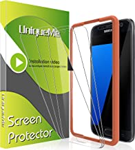 [3 Pack] UniqueMe Screen Protector for Samsung Galaxy S7 Tempered Glass,[Alignment Frame ] 9H Hardness [ Anti-Scratch] with Lifetime Replacement Warranty