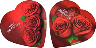 Pack of 2 Assorted Elmer Chocolates (Made in USA) in Heart-Shaped Boxes, 2 oz. Perfect for Valentine's Day Gifts! (3 Roses & 2 Roses)