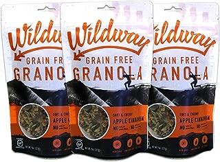 Wildway Keto, Vegan Granola | Apple Cinnamon Granola | Certified Gluten Free Granola Breakfast Cereal, Low Carb Snack | Paleo, Grain Free, Non GMO, No Added Sugar | 8oz, 3 pack