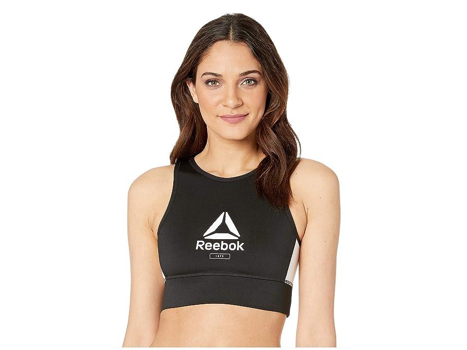 Reebok Workout Ready Lths Bralette (Black/White) Women