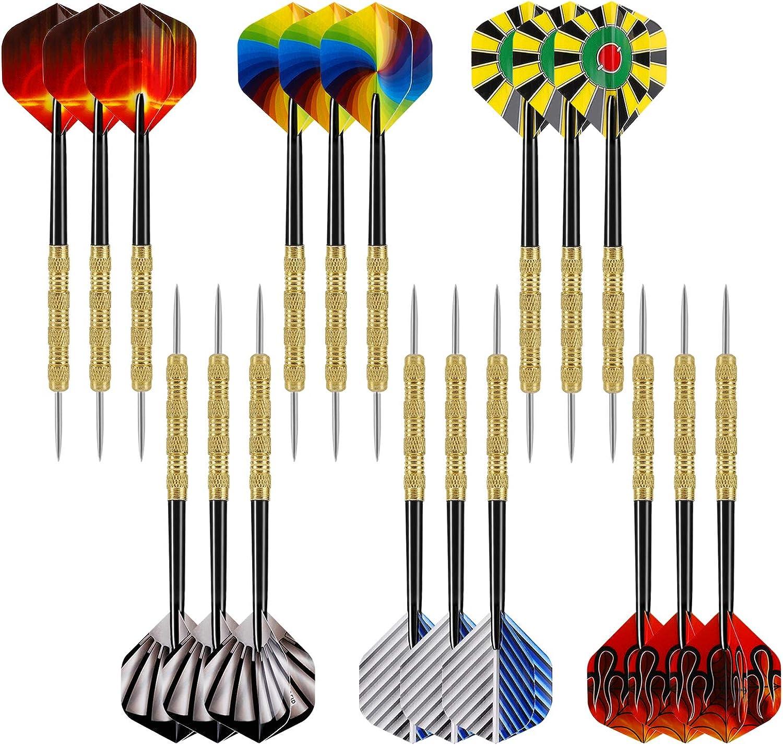 Accmor 18 pcs New sales Steel trust Tip Professional Darts Metal Set