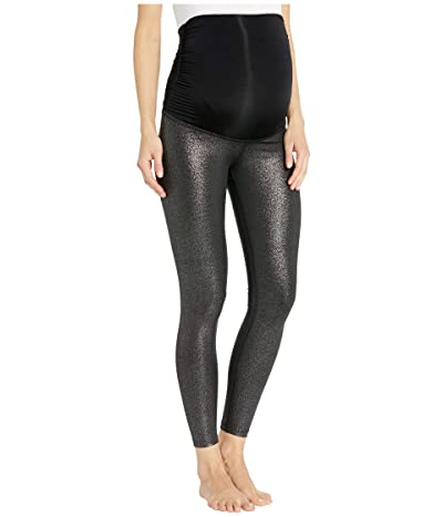 Beyond Yoga Maternity Twinkle Midi Leggings (Black/Silver Twinkle) Women