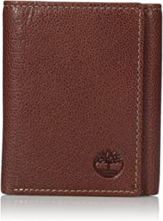 Men's Leather RFID Blocking Trifold Security Wallet