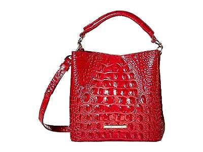 Brahmin Melbourne Mini Amelia Crossbody (Ember) Handbags