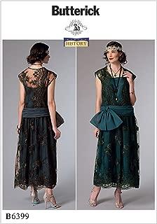 Butterick B6399 Women's 1920's Vintage Fashion Flapper Dress Sewing Pattern, Sizes 14-22