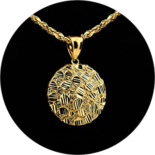 mens gold nugget charms
