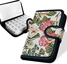 7 DAYS PILL BOX WALLET DESIGN CASE TABLET HOLDER PILL ORGANISER STORAGE BOX TRAVEL FLOWER